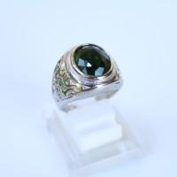 Cincin Batu Akik Zamrud Emerald Titanium Impor - Cincin Pria Impor #2