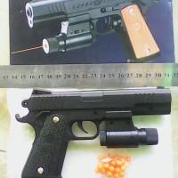 replika pistol plastik abs mainan airsoftgun box