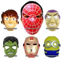 Topeng Anak Ben 10, Spiderman, Toy Story Buzz, Hulk, Ironman, Minion