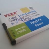 harga Bl-5f 2100mah Battery/baterai Vizz Double Power Nokia Bl5f N95 N96 E65 Tokopedia.com