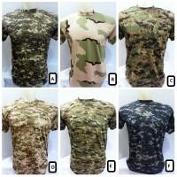 KAOS ARMY loreng camo militer harga grosir