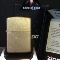 Zippo Armor tumbled brass 28496