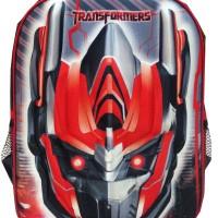 Tas Ransel Sekolah Anak Transformer Optimus Prime Red 3D Timbul IMPORT