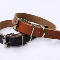kalung anjing bahan kulit asli import / leather dog collar