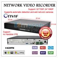 NVR 32 Channel (NVSIP) - Murah, Support ONVIF, P2P, 1080 HDMI