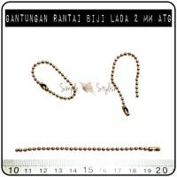 Gantungan Rantai Biji Lada Bronze (emas bakar) 2 mm
