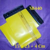 Amplop Plastik 15x23+4cm Warna Kuning Poly Bag Shipping Bag - SB440