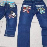 Boy Transformer Pants Jeans Denim Robot Celana Anak Cowok Laki Panjang