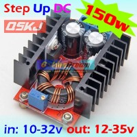 Step Up 150w 10-32v to 12-35v DC Boost Power Supply Charger Driver Led