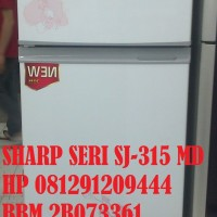 SHARP KULKAS 2 PINTU SERI SJ-315- MD