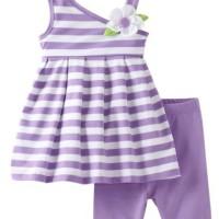 Baju Anak - Purple Stripped Set (GI-632)