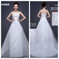 harga Wedding Dress - Gaun Pengantin Ekor Panjang Payet Korea 2015 Tokopedia.com