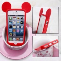 Casing HP Bumper Mickey Red Iphone 5/5s Samsung S4/S5 Note 3