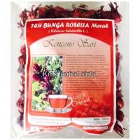 Teh bunga rosella merah kencono sari, bunga rosella merah, teh rosela