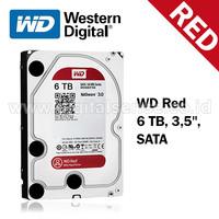 "Hard Disk SATA untuk NAS WD60EFRX (WD Red 6 TB, 3,5"")"