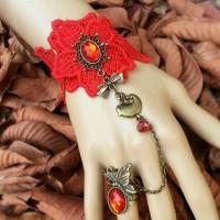 harga Aksesoris Handmade Unik Set Gelang Cincin Merah  Vintage Accessories Tokopedia.com
