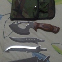 Pisau Golok Kampak Skinner Gergaji Komando camo Loreng army Camping