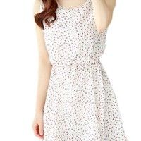 Sanwood Women's Floral Mini Dress - Putih