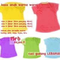 Baju Kaos Anak Basic Adem Murah Meriah