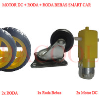 harga Motor DC+Roda+Caster Robot Smart Car Line Follower Tracking Tracer Tokopedia.com