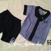 baju anak laki2 setelan motif garis