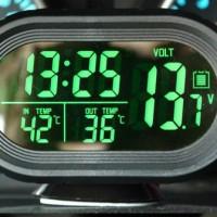 harga Volt Meter Mobil Motor 4in1 Pengukur Aki, Jam Digital, Termometer Tokopedia.com