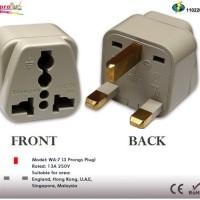 WONPRO WA-7: Universal to UK Grounded Travel Power Plug Adapter