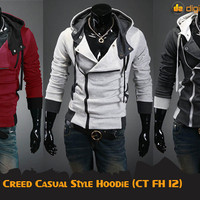 Assassin's Creed Casual Style Hoodie (CT FH 12 - Maroon, Misty, Black)