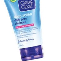 harga Clean&clear Deep Action Daily Pore Cleanser 50ml Tokopedia.com
