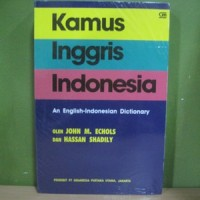Kamus Inggris Indonesia An English-Indonesia Dictionary John Echols HC