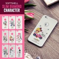 Softshell Slim Diamond Character Iphone 6