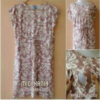 Baju Hamil Menyusui (Midi kania batik ungu)