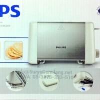 Sandwich Bread Toaster Philips HD4825 Stainless Asli,Baru,Garansi Resm