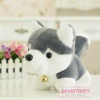 Boneka Cute Grey Husky Dog Doll