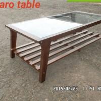 Jual Meja Ruang Tamu Bahan Kayu Oak Lokasi Dekat UNDIP