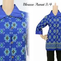 Baju Blouse Batik Kerja Modern Baju Atasan Wanita Kantor Murah Elegan