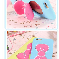 harga Cute Bow Stand Holder Case Iphone 6 Tokopedia.com
