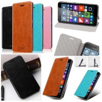 harga Jual Mofi Leather Flip Cover Case Kulit Microsoft Lumia 640xl / 640 Xl Tokopedia.com