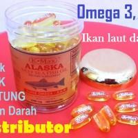 Emas Minyak Ikan Lautan Dalam ALASKA K-MAX Omega 3 6 9 EPA DHA Vita E