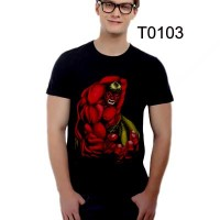T0103 - KAOS HULK MERAH KAOS MONSTER KAOS SUPER HERO KAOS FILM BIOSKOP
