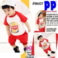 SALE baju anak import kode FD 189, size 2,3,4,5,6,7y, burger king