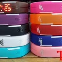 Jam Tangan LED merk Adidas,Nike,Puma,Korea
