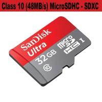 Jual Micro sd Memory Card 32GB SANDISK Ultra  Kartu Memory Untuk Memory HP Murah