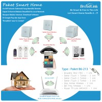 PAKET SMART HOME BROADLINK : TYPE B6-213 + Stop Kontak + Bel