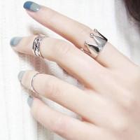 Cincin Korea Best Seller Ring Forever21 crown shape decorated simple