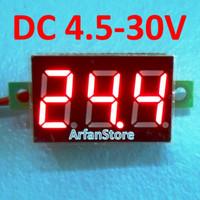 """Volt Meter Mini DC 4.5V - 30V Digital Voltmeter 0.36"""" Display Merah"""