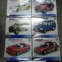 diecast kit bburago / kit miniatur jep dan sedan