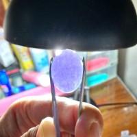 Batu akik alami murah: Lavender ungu [motif mirip pecah seribu]