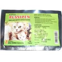 obat antibiotik kucing flu, demam, pilek, batuk, luka PUSSYPEN