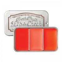 The Skinfood Fresh Fruit Lip Cheek ORANGE PINK Blush On Lipstick Ori